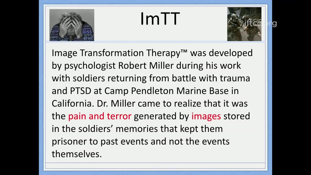 Image Transformation Therapy - Theory and Practice, Part 1: Robert Vazzo