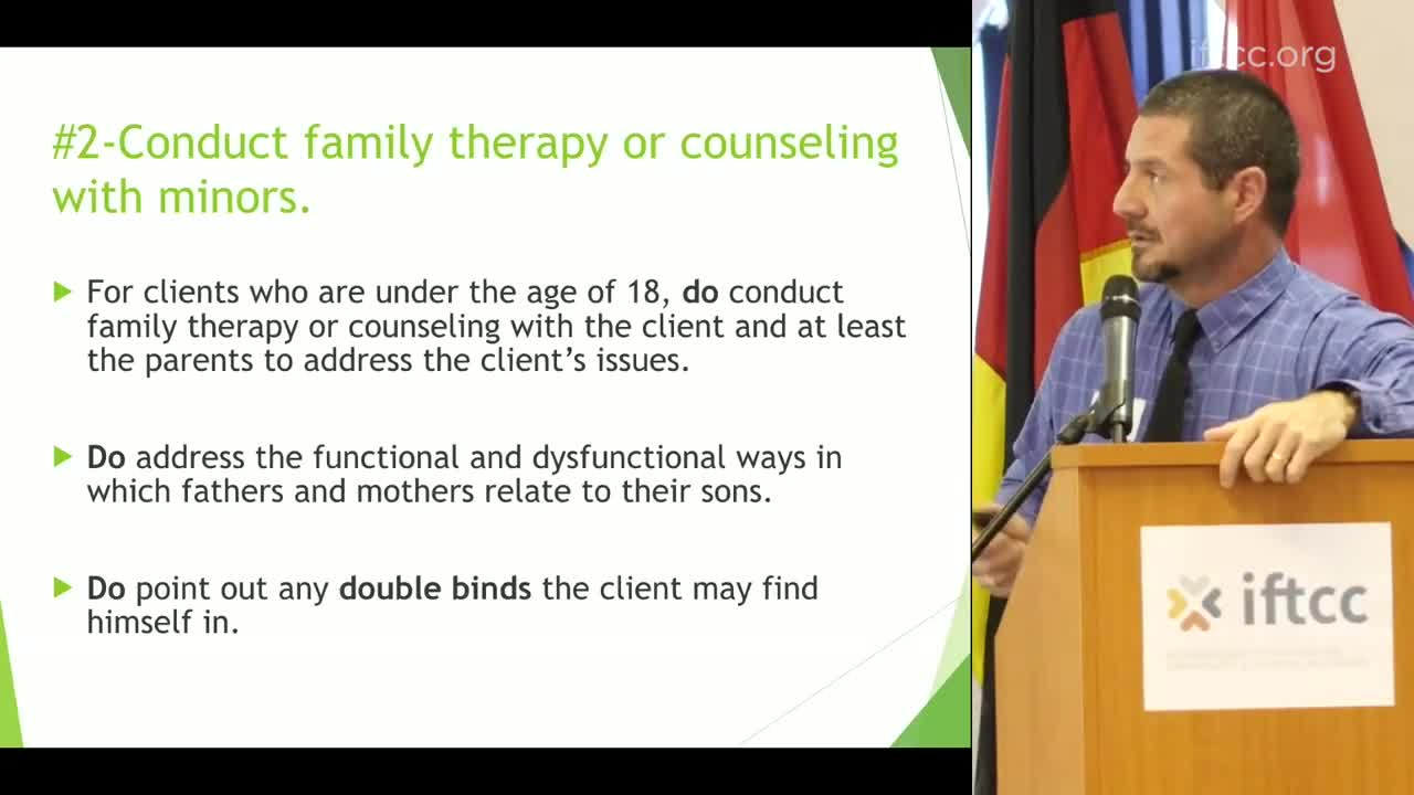 Do's and Don'ts for Counselling Men with SSA - Robert Vazzo
